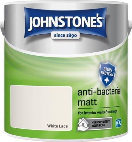 Johnstone's Anti Bacterial Matt 2.5L - White Lace
